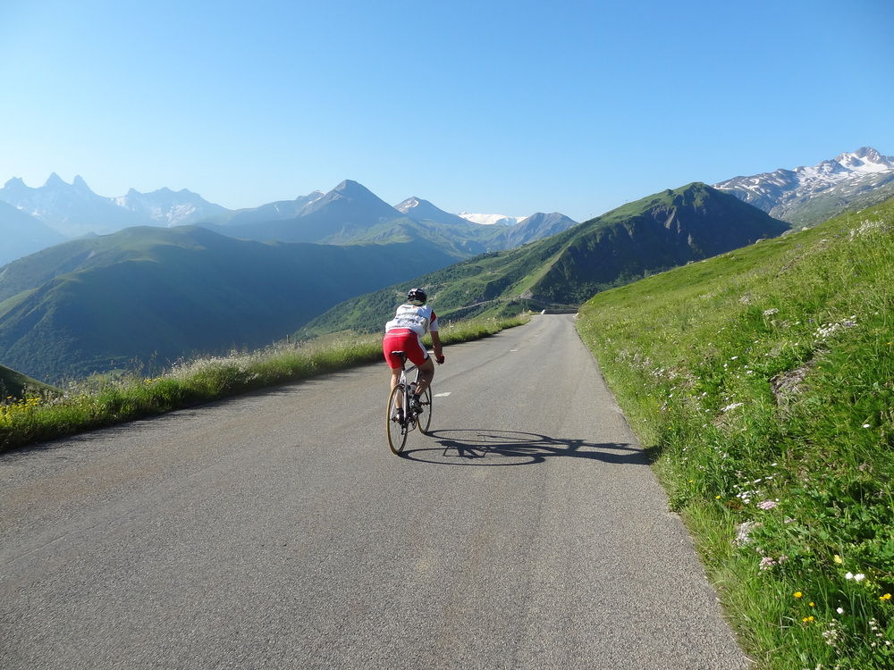 Descending the Col de la Croix de Fer