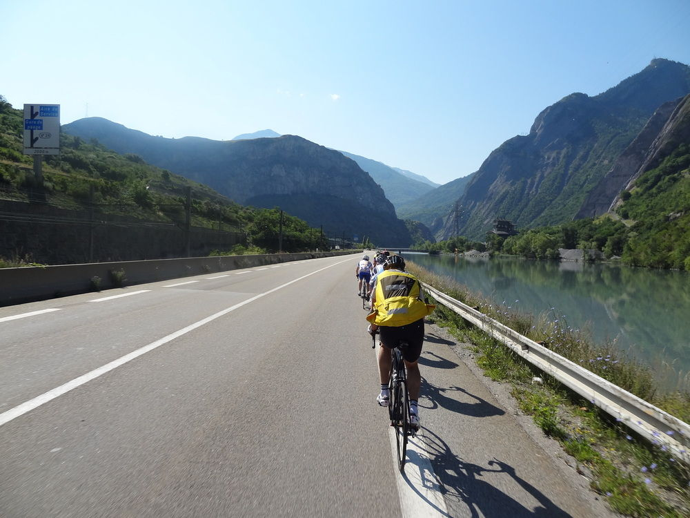 Riding towards St-Michel-de-Maurienne