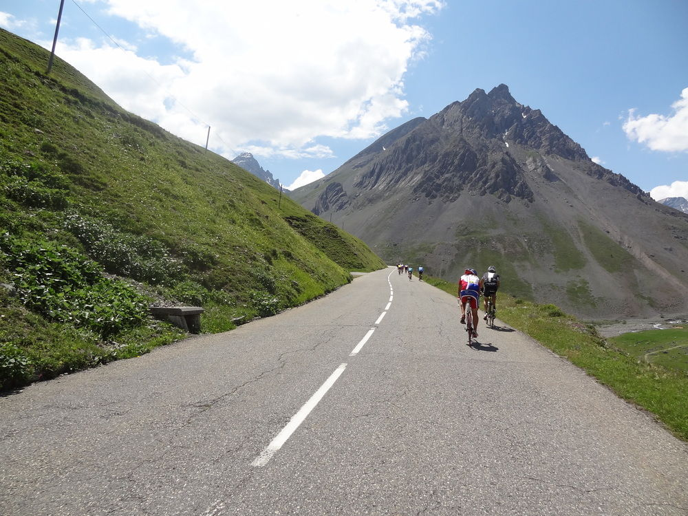 On the Col du Galibier