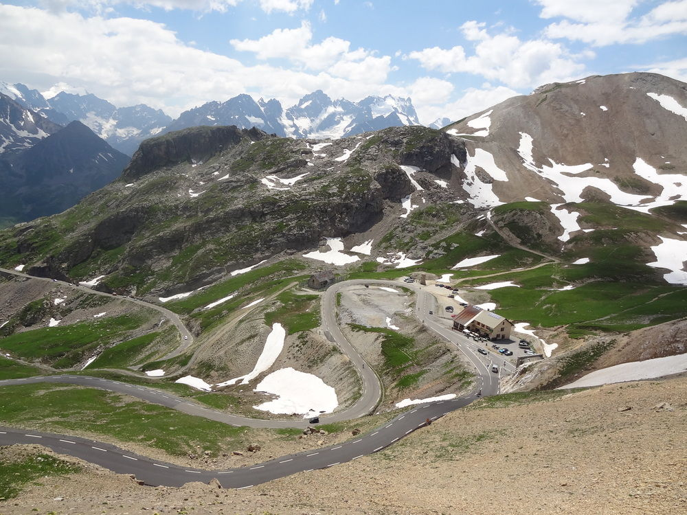 The view of the north side of the Col du Galibier from the Col