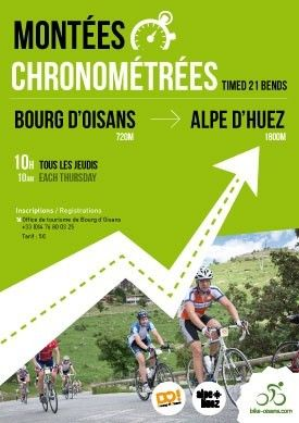 Timed cycle climbs to alpe d huez