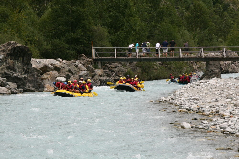 White water rafting calm day