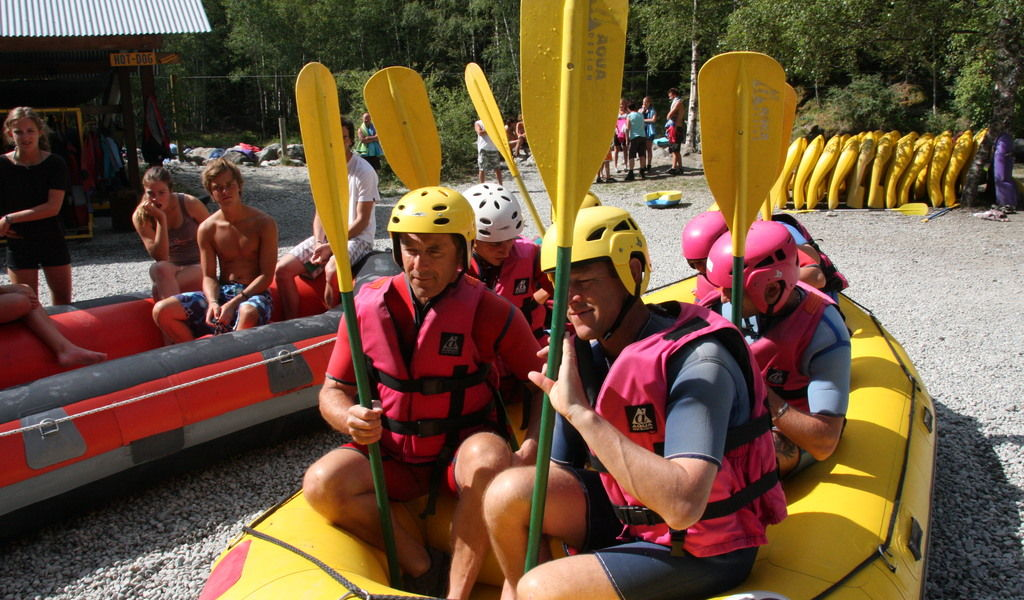 White water rafting preparation