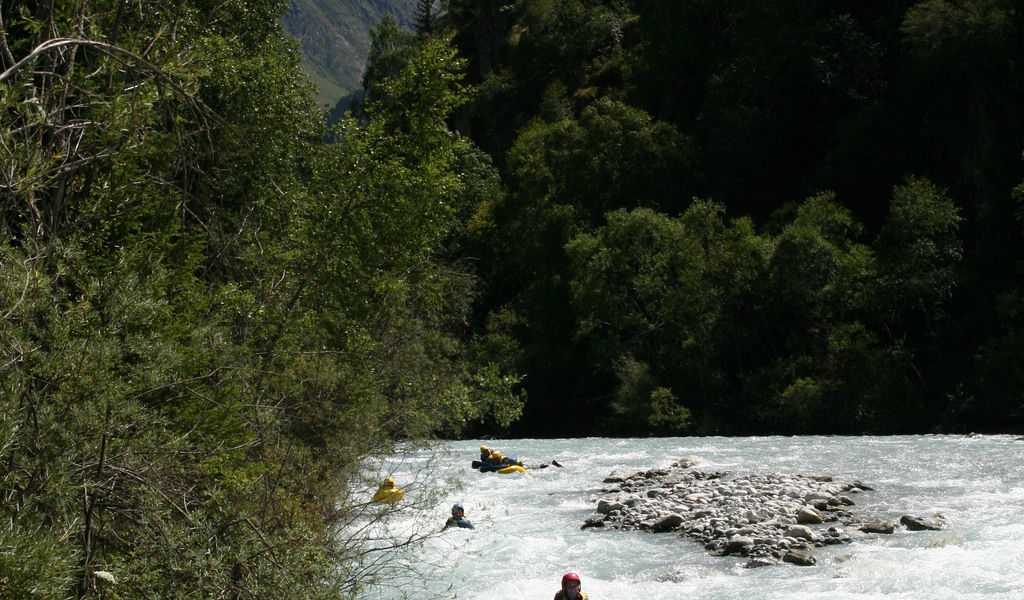 Kayaking rapids